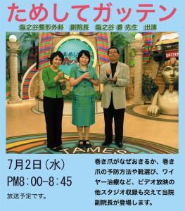 2008.07.02. NHK「ためしてガッテン」